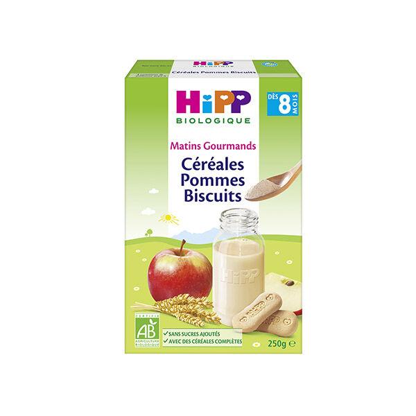 Hipp Bio Matins Gourmands Céréales Pommes Biscuits +8m 250g