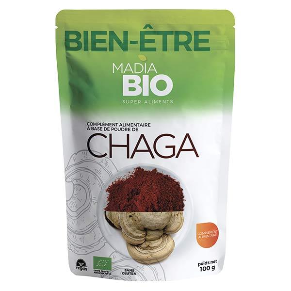 Madia Bio Super Aliments Chaga Poudre 100g