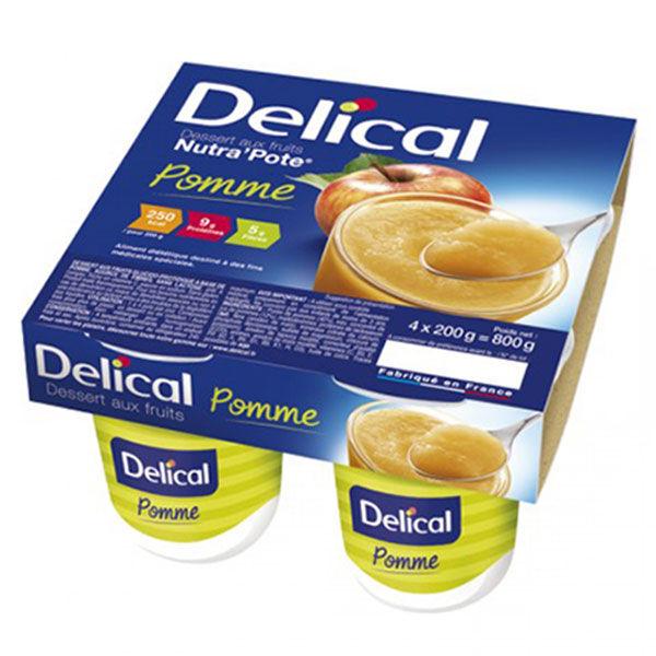 Delical Dessert aux Fruits Nutra'Pote Pomme 4 x 200g