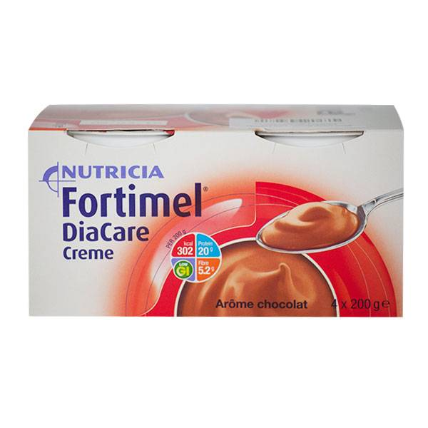 Nutricia Fortimel Diacare Crème Chocolat 4x200g