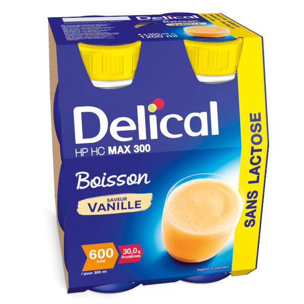 Delical Boisson HP HC Max 300 sans Lactose Vanille 4 x 300ml