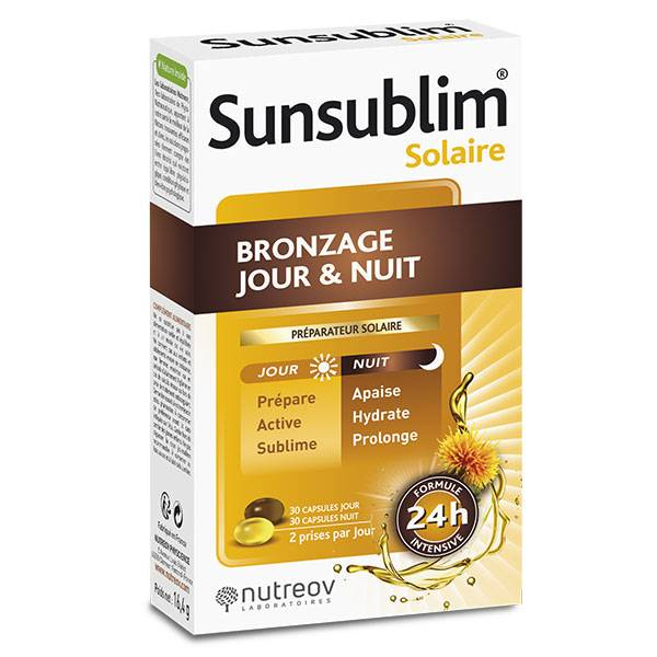 Nutreov Physcience Sunsublim Bronzage Jour Nuit 60 capsules