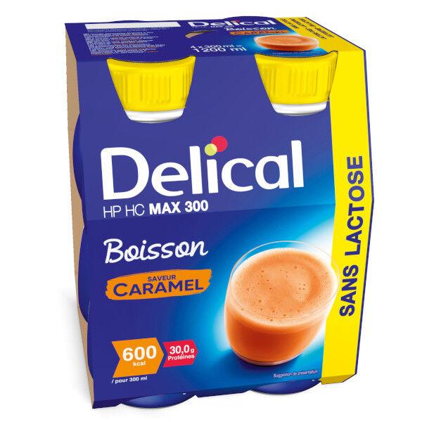 Delical Boisson HP HC Max 300 sans Lactose Caramel 4 x 300ml