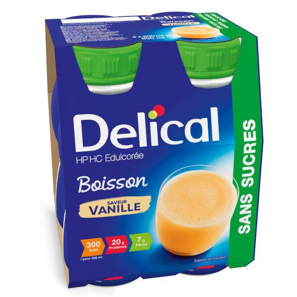 Delical Boisson HP HC Edulcorée sans Sucres Vanille 4 x 200ml