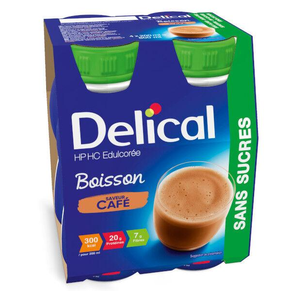 Delical Boisson HP HC Edulcorée sans Sucres Café 4 x 200ml