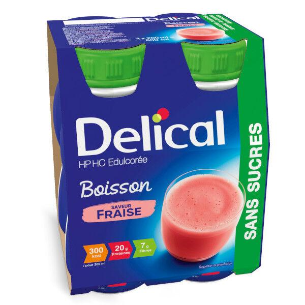 Delical Boisson HP HC Edulcorée sans Sucres Fraise 4 x 200ml