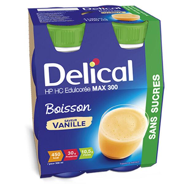 Delical Boisson HP HC Max 300 sans Sucres Vanille 4 x 300ml