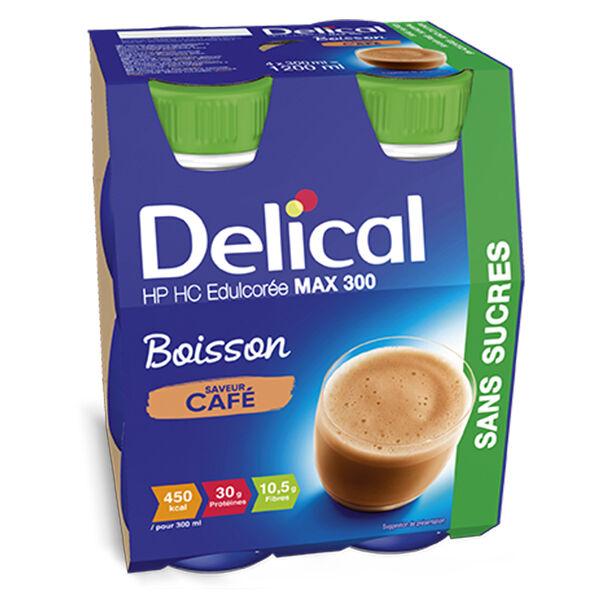 Delical Boisson HP HC Max 300 sans Sucres Café 4 x 300ml