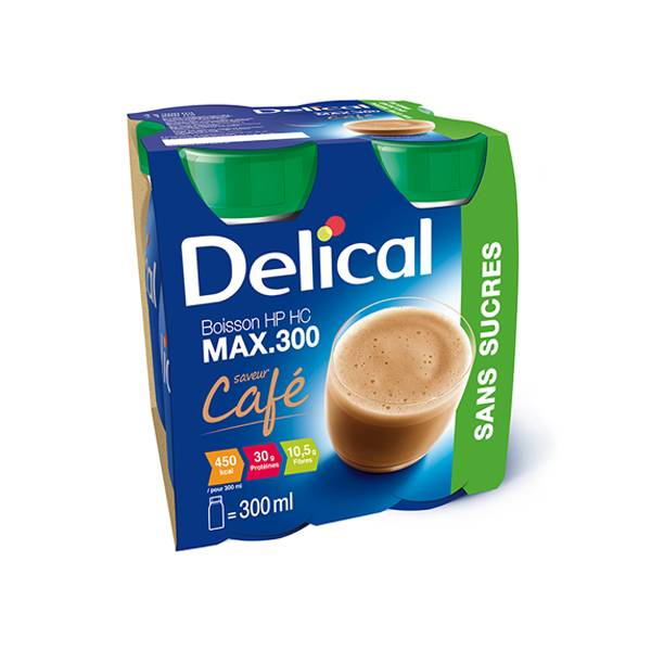 Delical Boisson HP HC Max 300 sans Sucres Café 4 x 300ml