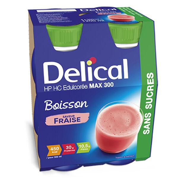 Delical Boisson HP HC Max 300 sans Sucres Fraise 4 x 300ml