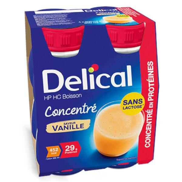Delical Boisson HP HC Concentré en Protéines sans Lactose Vanille Lot de 4 x 200ml