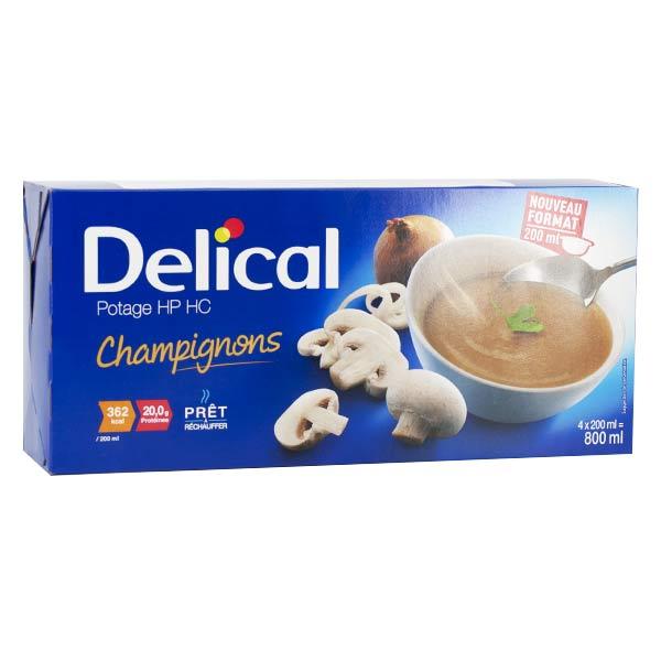 Delical Potage HP HC Champignons 4 x 200ml