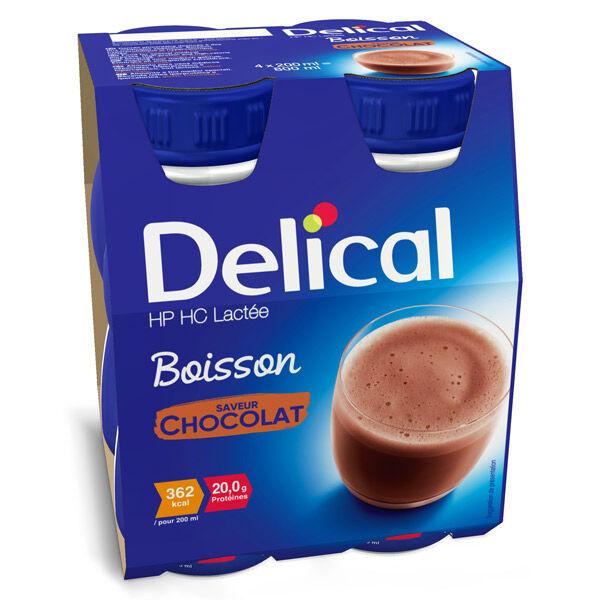 Delical Boisson HP HC Lactée Chocolat 4 x 200ml