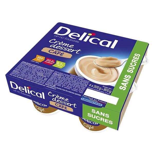 Delical Crème Dessert HP HC Café Sans Sucres 4 x 200ml