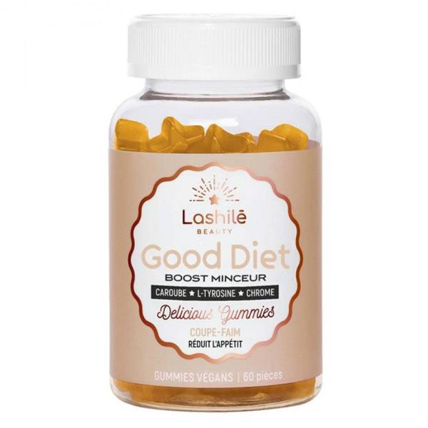 Lashilé Beauty Good Diet Boost Minceur Coupe-Faim Anti-Fringales 60 gummies vegans
