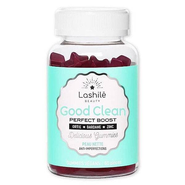Lashilé Beauty Good Clean Perfect Boost Peau Nette 60 gummies vegan