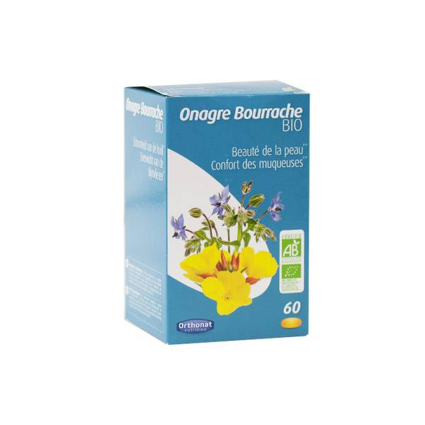 Orthonat Onagre Bourrache Bio 60 capsules