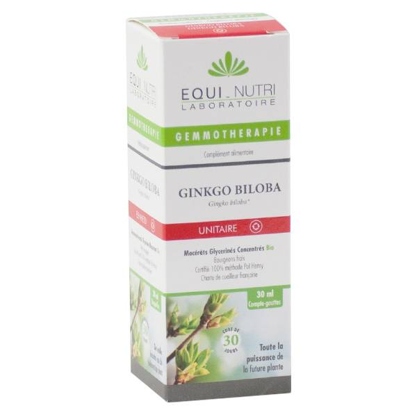 Equi-Nutri Gemmothérapie Ginkgo Biloba Bio 30ml