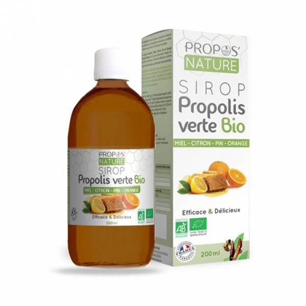 Propos'Nature Propos' Nature Apithérapie Sirop Propolis Verte Bio 200ml