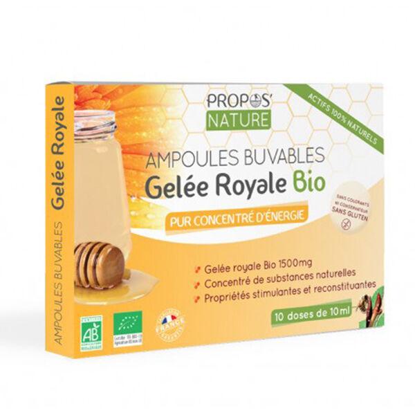 Propos'Nature Gelée Royale Bio 1500mg 10 ampoules