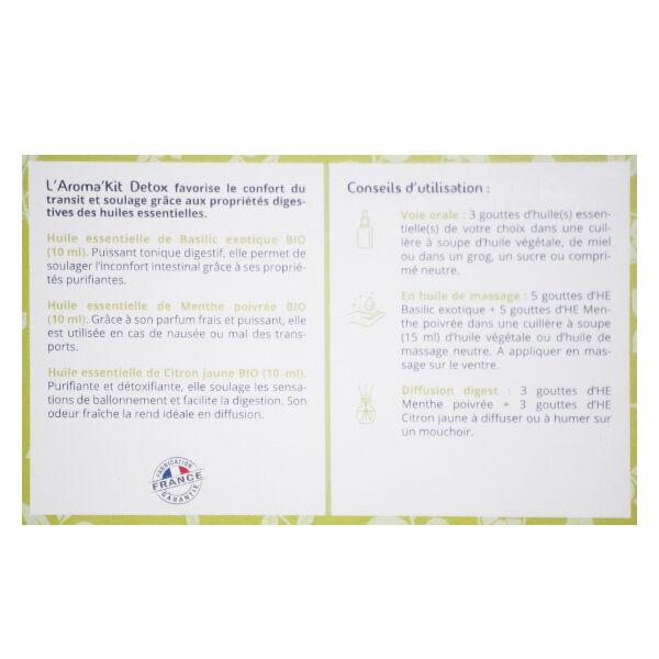 Propos'Nature Propos' Nature Aroma-Phytothérapie Aroma'Kit Détox Trio d'Huiles Essentielles Bio