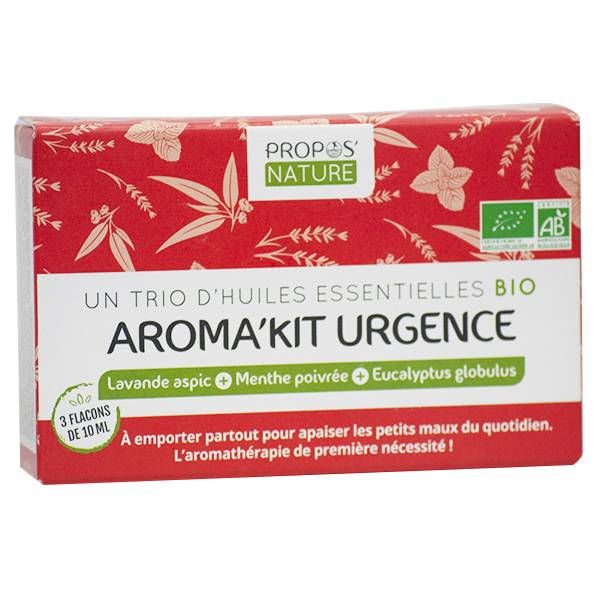 Propos'Nature Propos' Nature Aroma-Phytothérapie Aroma'Kit Urgence Trio d'Huiles Essentielles Bio