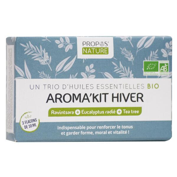 Propos'Nature Propos' Nature Aroma-Phytothérapie Aroma'Kit Hiver Trio d'Huiles Essentielles Bio