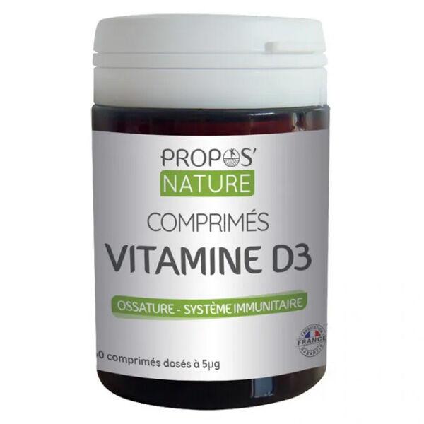 Propos'Nature Propos' Nature Vitamine D3 60 comprimés
