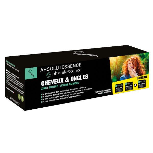 Phytalessence Cheveux et Ongles Lot de 3 x 60 gélules