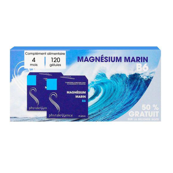 Phytalessence Magnésium Marin B6 Lot de 2 x 60 gélules