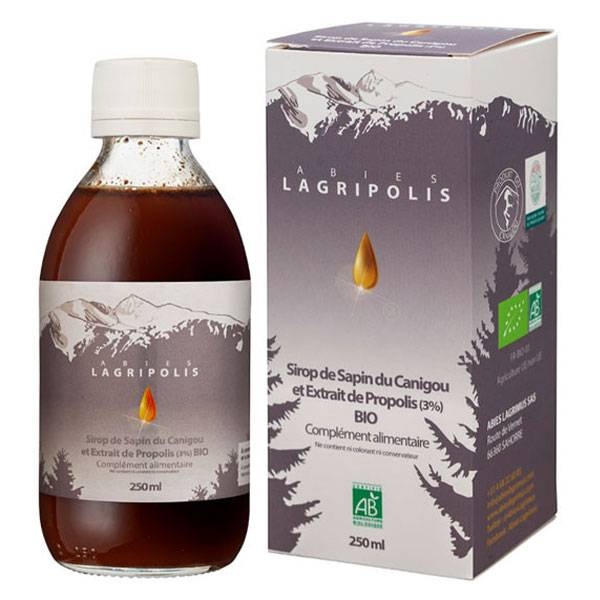 Abies Lagrimus Lagripolis Sirop de Sapin du Canigou et Extrait de Propolis Bio 250ml
