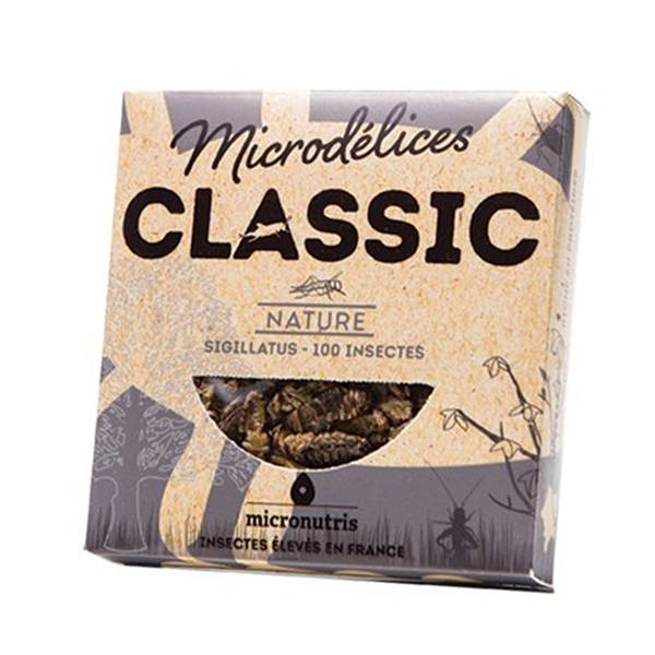 Micronutris Insectes Apéritifs Sigillatus Saveur Nature 5g