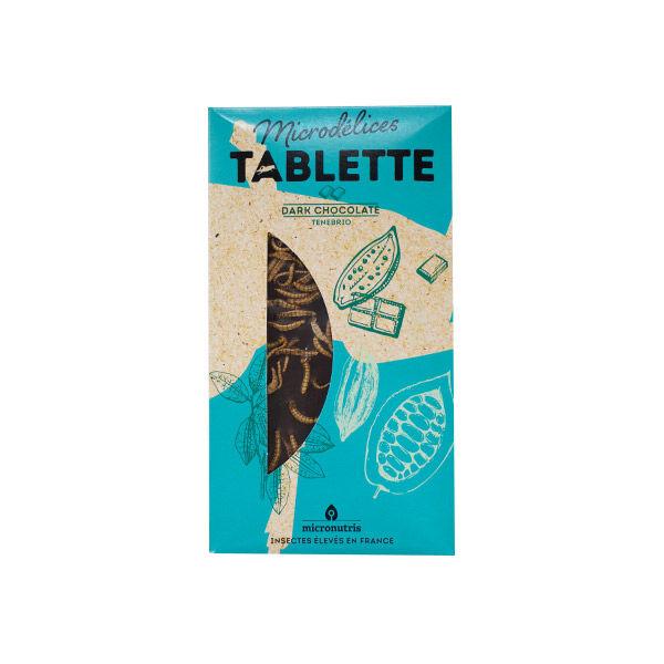 Micronutris Tablette Chocolat Noir Insectes Tenébrio 70g