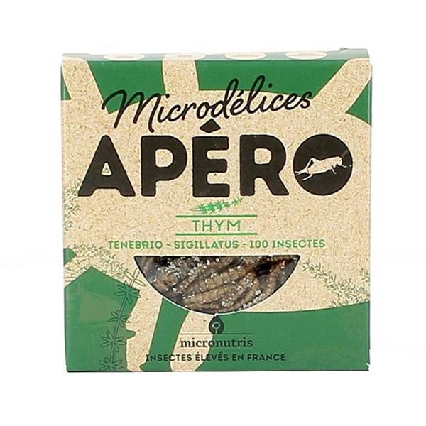 Micronutris Insectes Apéritifs Ténébrio / Sigillatus Saveur Thym 5g