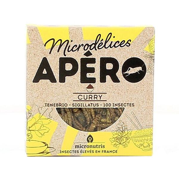 Micronutris Insectes Apéritifs Ténébrio / Sigillatus Saveur Curry 5g