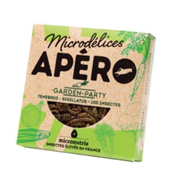 Micronutris Insectes Apéritifs Ténébrio / Sigillatus Saveur Garden Party 5g