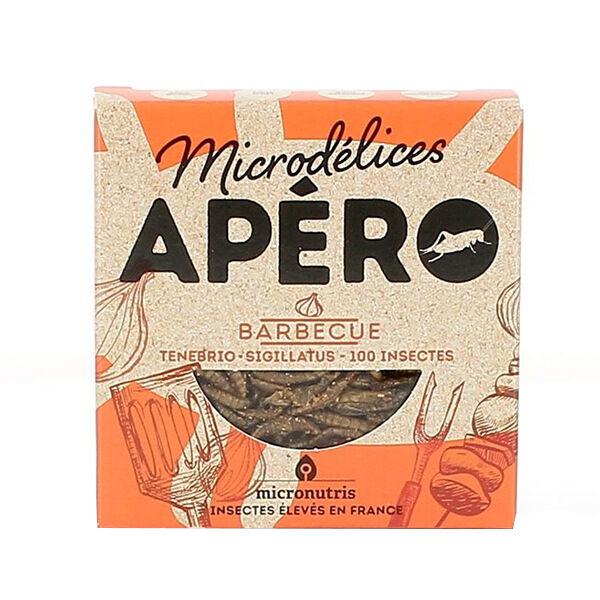 Micronutris Insectes Apéritifs Ténébrio / Sigillatus Saveur Barbecue 5g