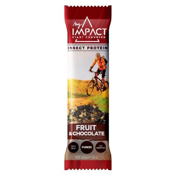 Micronutris Barre Energétique MyImpact Fruits & Chocolat et Insectes 50g