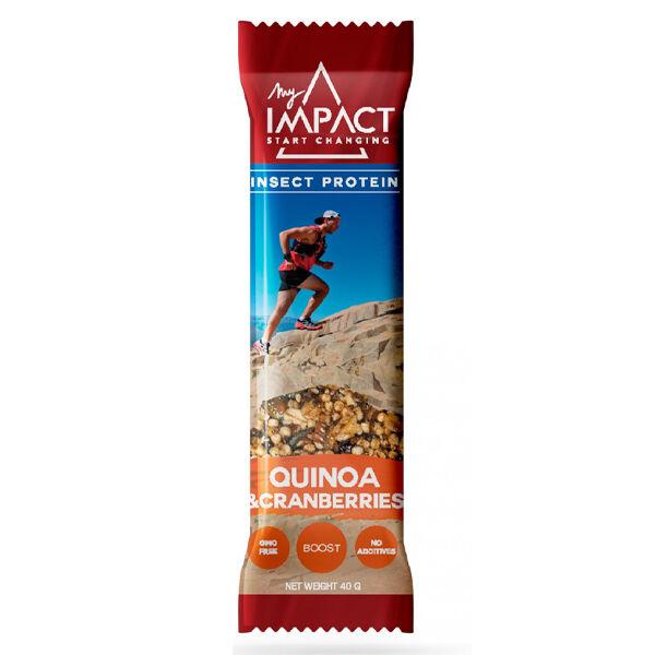 Micronutris Barre Energétique My Impact Quinoa & Canneberge et Insectes 40g