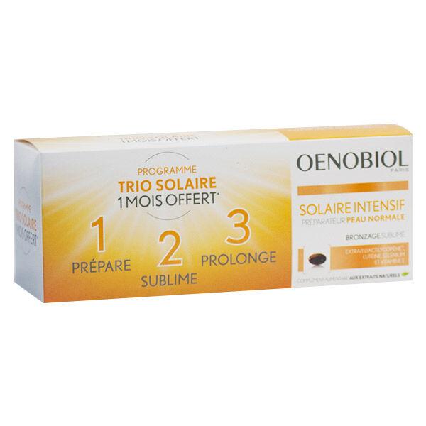 Oenobiol Solaire Intensif Peaux Normales Lot de 3 x 30 capsules