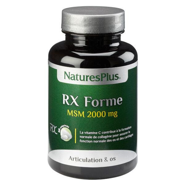 Natures Plus Nature's Plus MSM RX-Forme 60 comprimés