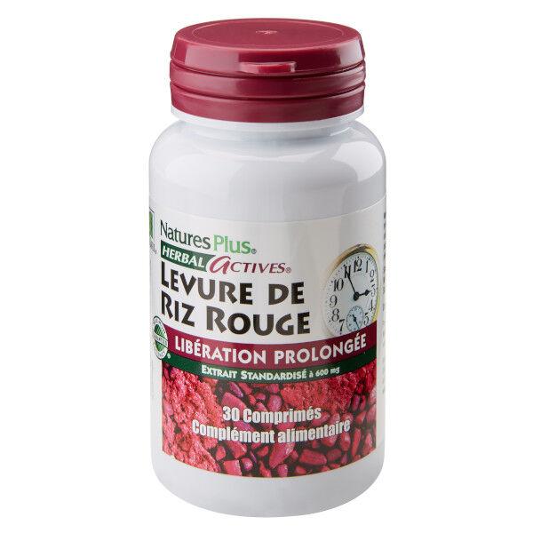 Natures Plus Nature's Plus Levure de Riz Rouge Libération Prolongée 30 comprimés