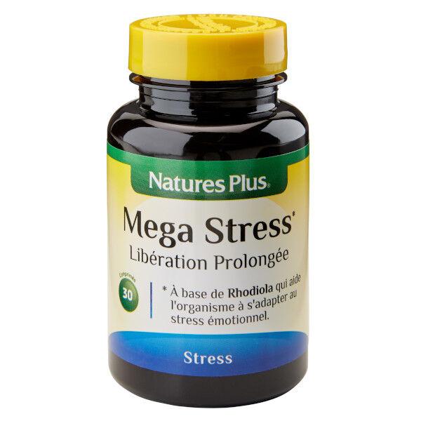 Natures Plus Nature's Plus Méga-Stress Libération Prolongée 30 comprimés