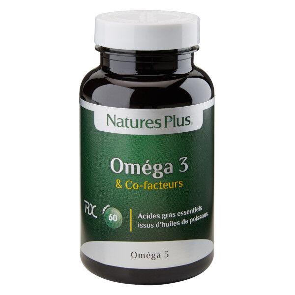 Natures Plus Nature's Plus Oméga 3 & Co-Facteurs 60 capsules