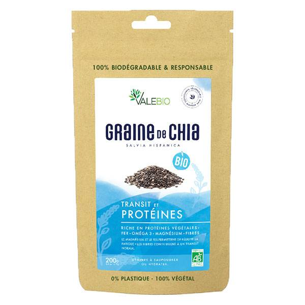 Valebio Graine de Chia Bio 200g