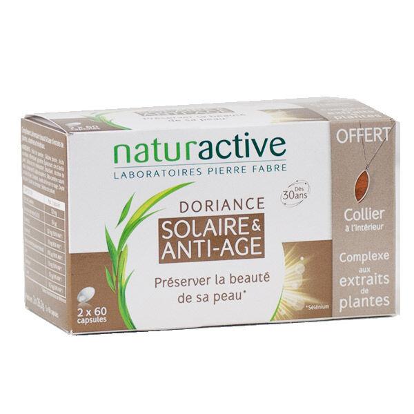 Naturactive Doriance Solaire et Anti-Age Lot de 2 x 60 capsules + 1 Collier Offert
