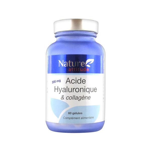 Nature Attitude Acide Hyaluronique et Collagène 60 gélules