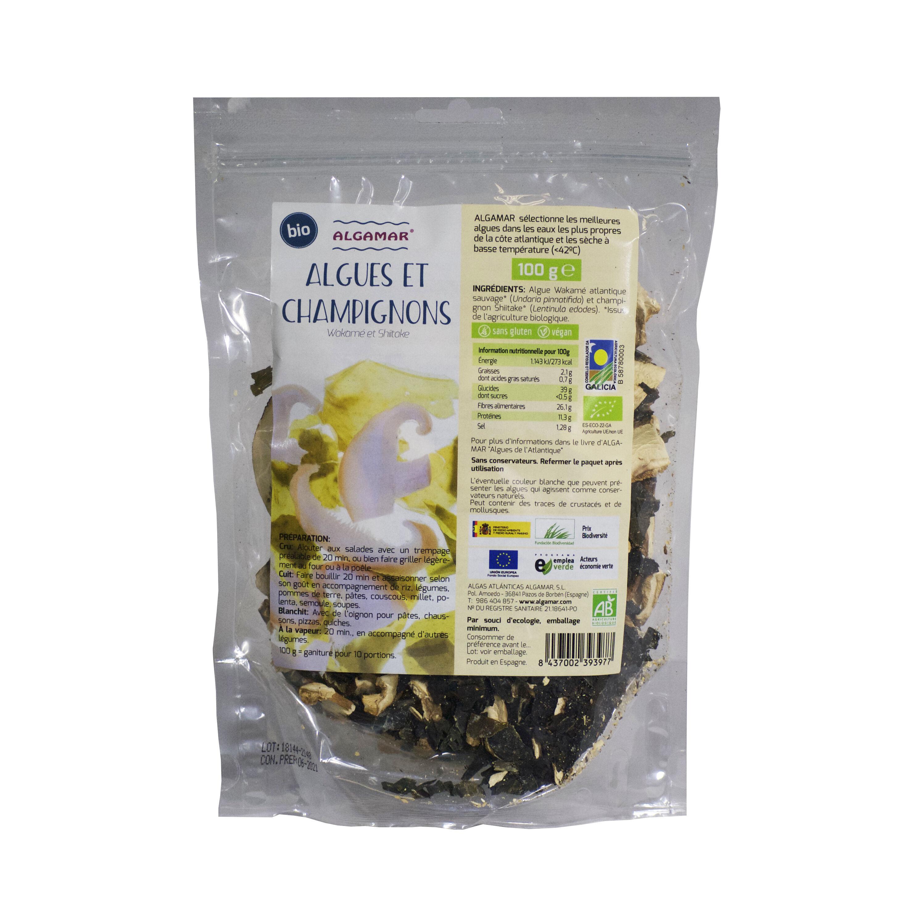 Algamar Algues et Champignons Wakame et Shiitaké Bio 100g