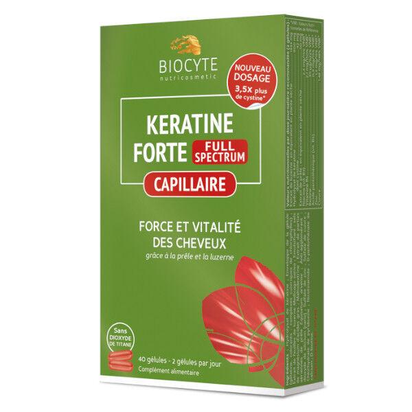 Biocyte Keratine Forte Full Spectrum 40 gélules