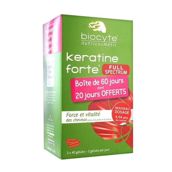 Biocyte Pack Keratine forte Full Spe 120 gélules